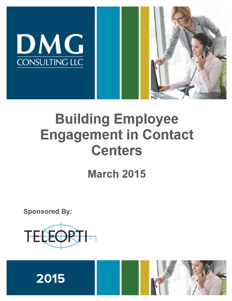 Building Employee Engagement in Contact Centers